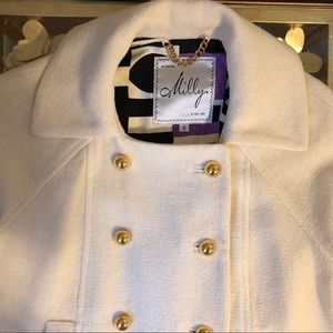 Milly Short Sleeve Jacket with Gold Buttons